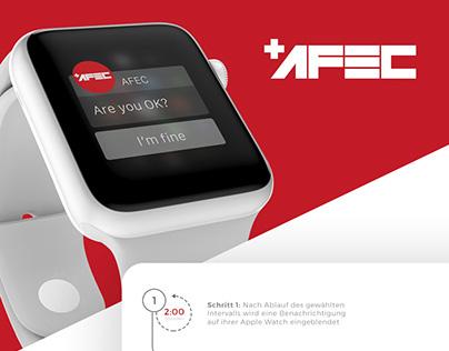 AFEC Emergency App concept