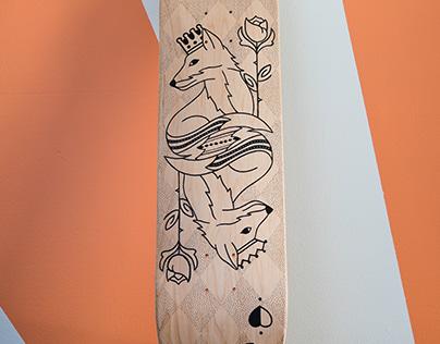Fox Playing Card Skateboard Deck