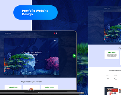 UX Portfolio Website design with HTML5, CSS3