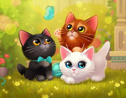 Happy Kitties mobile game