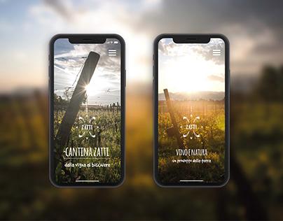 Cantina Zatti Branding, Website & Label design
