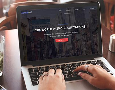 Сайт для компании ActiveLIVE