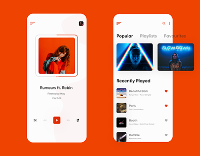 Music Player App Concept