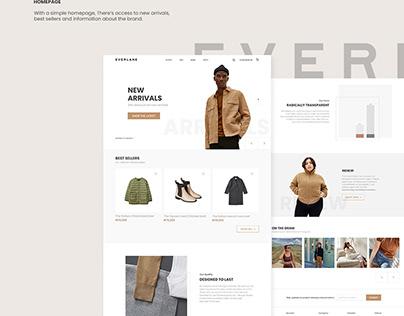Everlane Website Redesign/Rethinking