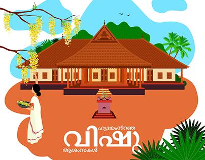 Happy Vishu, new year of Gods Own Country.