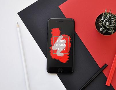 Free Mockups. iPhone SE 2020