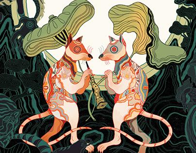 The Rat - Vietnamese Zodiac illustration