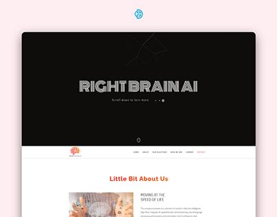 Right Brain AI Landing page UI UX