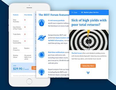 Seeking Alpha - Mobile Landing page