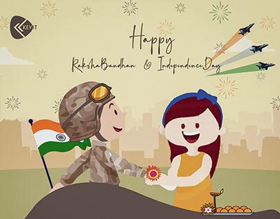 Happy RakshaBandhan & Independence day - Kevit