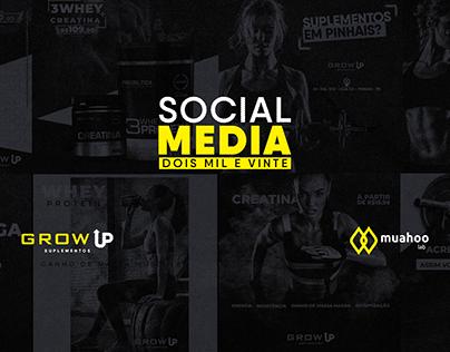 Social Media - Redes Sociais - Grow UP Suplementos