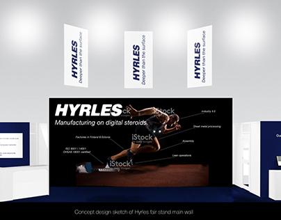 Hyrles fair stand main wall design for fair