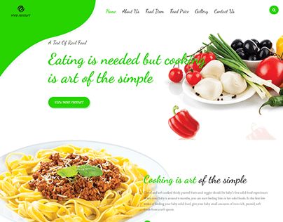 Food Product(Landing Page-{Food/Restaurant})