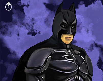 Batman painted LIVE on Adobe Live with Adobe Fresco