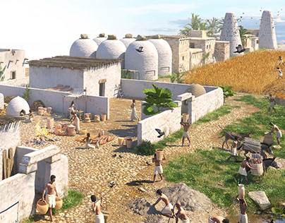 Ancient Egypt Village Life