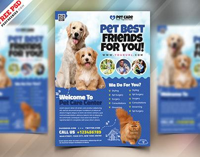 Pet Shop Flyer Template PSD
