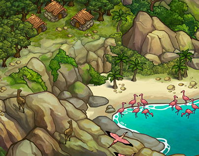 Natural Bridges. Map for a mobile game