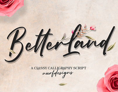 FREE | Better Land Classy Calligraphy Script