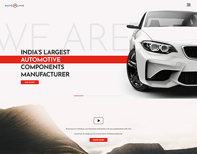 Autoline - Website Home page (Pitch)