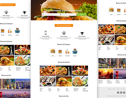 Online Product Delivery Website Freebie