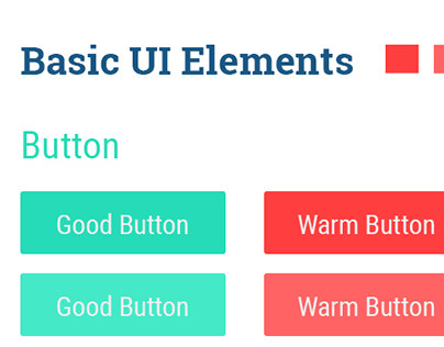 Basic Flat UI Elements