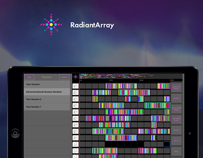 Radiantarray App Web Landing page design