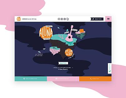 Aluna festival 2019 webdesign