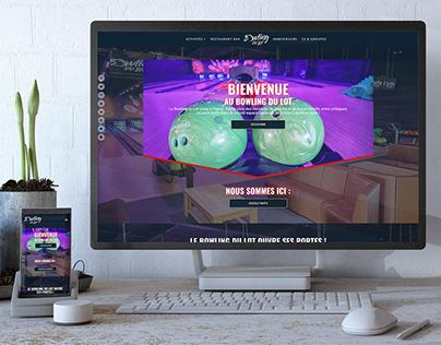 Website UI design for a bowling and leasure center