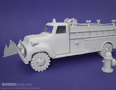 Tonka Firetruck model and render