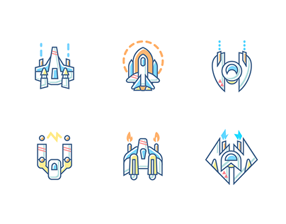 Spaceships, Transportation & Indy Icons