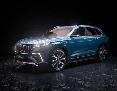 TOGG 3D Car Render CGİ