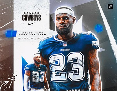 LeBron James to the NFL / Dallas Cowboys Graphic