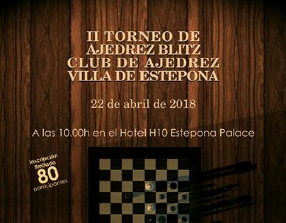 Cartel II Torneo de Ajedrez Blitz C.A.V.E