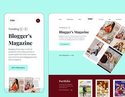 TIMS Magazine Website Design