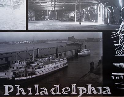 Historic Philadelphia Pier Wall Mural