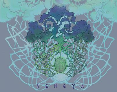 """""""SEMEYA"""" Nómada's band CD Artwork (2018)"""
