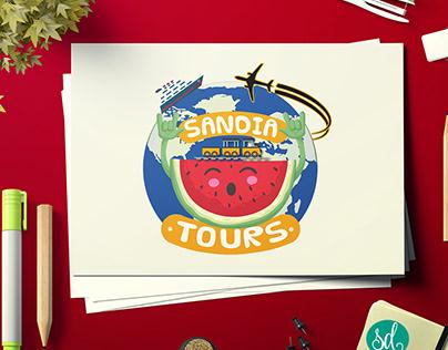 Identidad Gráfica: Sandía Tours (España)