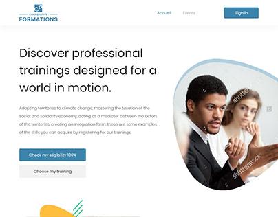 Training Event Website