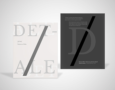 DETALE - invitation design for school project.