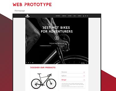 Roarbikes - UX/UI web design