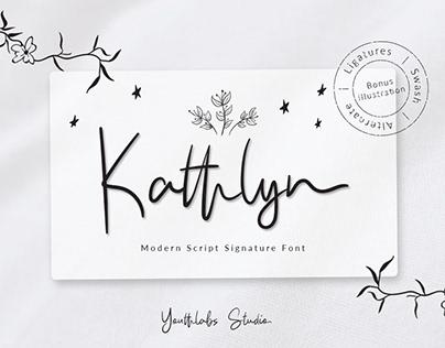 FREE Kathlyn Font