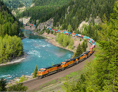 BNSF Railway in Glacier National Park