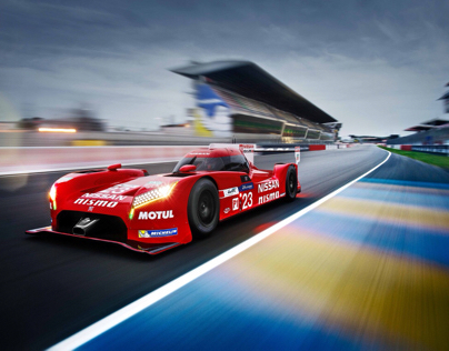 Nissan GT-R LM Nismo rig shoot at 2015 Le Mans 24 hour