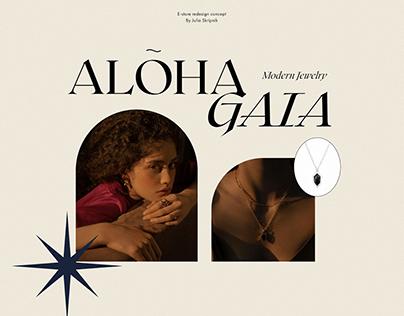 Aloha Gaia | E-store redesign concept