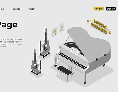 Musical Instrument 3d Isometric
