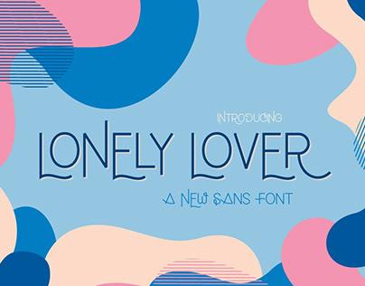 Lonely Lover Sans Serif Font