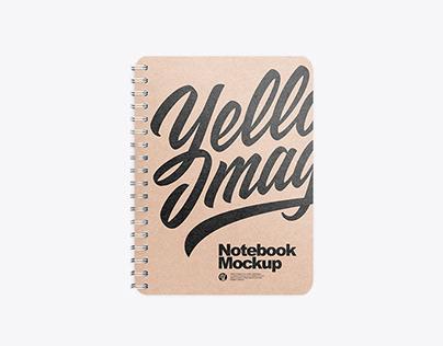 Kraft Spring Notebook Mockup