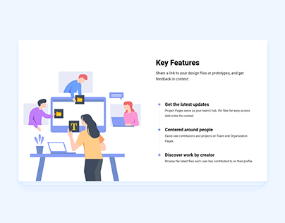 Key Features Card UI Concept