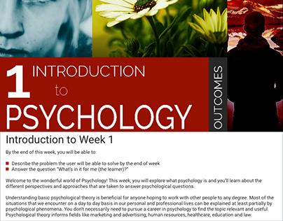 Psychology Course Design