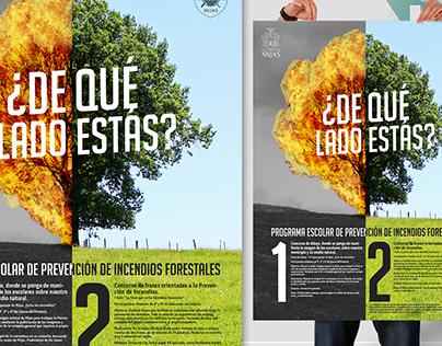 Cartel prevención de incendios Ayto. de Mijas